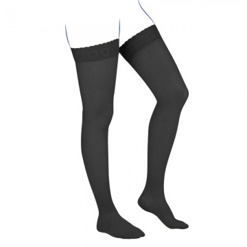 Venoflex Kokoon Thigh Stocking, Black (Closed Toe)