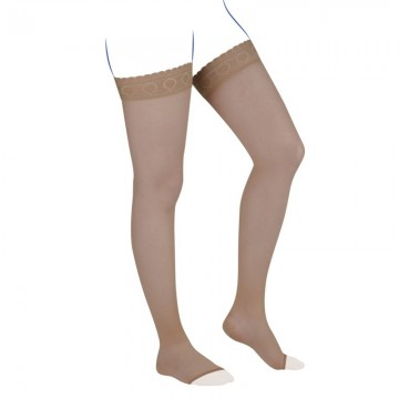 Venoflex Kokoon Thigh Stocking, Miel (Open Toe)