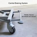 Livorno Premium Nursing Bed, Continuous Side Rails